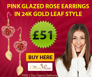 Traditional 38th Wedding Anniversary Gifts for Parents. pink earrings for the anniversary