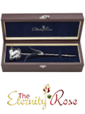 Silver-dipped natural rose